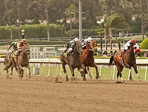 Big Macher wins the 2014 Potrero Grande Stakes.