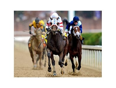 "Eldaafer pulls away in the Marathon.<br><a target=""blank"" href=""http://www.bloodhorse.com/horse-racing/photo-store?ref=http%3A%2F%2Fpictopia.com%2Fperl%2Fgal%3Fprovider_id%3D368%26ptp_photo_id%3D9266657%26ref%3Dstory"">Order This Photo</a>"