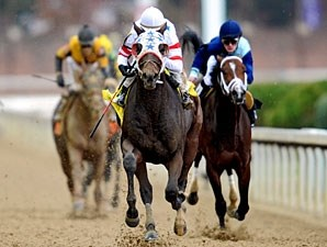 Eldaafer wins the 2010 Breeders' Cup Marathon.