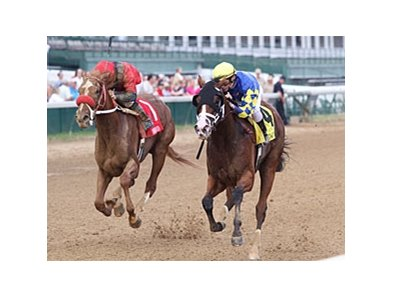 Ailalea (right) delivers a victory in the Dogwood.