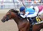 "Teeth of the Dog fights off Fast Falcon to win the Dwyer.<br><a target=""blank"" href=""http://photos.bloodhorse.com/AtTheRaces-1/at-the-races-2012/22274956_jFd5jM#!i=1937198263&k=9k9H4mf"">Order This Photo</a>"
