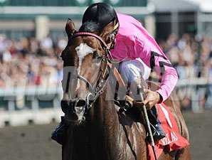 Sweet Seventeen Allowance win, Keeneland, October 7, 2011.