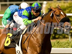 Rail Trip wins the 2010 Mervyn Leroy.