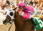 Blind Luck won the Oak Leaf Stakes at Santa Anita Park in her most recent start. 