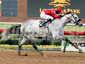 Lasting Bubbles wins the 2013 JEH Stallion Station Stakes.
