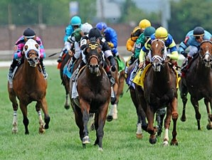 Great Attack wins the 2012 Turf Sprint Stakes.