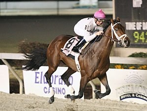 Rule wins the 2009 Jean Lafitte Stakes.
