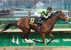 Serenading pulls away in the Falls City at Churchill Downs.