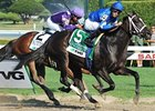 "It's Tricky goes by Plum Pretty to claim the Coaching Club American Oaks.<br><a target=""blank"" href=""http://www.bloodhorse.com/horse-racing/photo-store?ref=http%3A%2F%2Fpictopia.com%2Fperl%2Fgal%3Fprovider_id%3D368%26ptp_photo_id%3D9608212%26ref%3Dstory"">Order This Photo</a>"