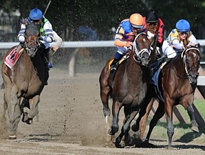 Stay Thirsty wins the 2011 Jim Dandy.