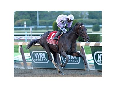"Ron the Greek won the 2013 Jockey Club Gold Cup. <br><a target=""blank"" href=""http://photos.bloodhorse.com/AtTheRaces-1/at-the-races-2013/27257665_QgCqdh#!i=2796781069&k=Cq84g9j"">Order This Photo</a>"