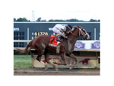 "Will Take Charge streaks to victory in the Pennsylvania Derby.<br><a target=""blank"" href=""http://photos.bloodhorse.com/AtTheRaces-1/at-the-races-2013/27257665_QgCqdh#!i=2780888318&k=w4CQdNr"">Order This Photo</a>"