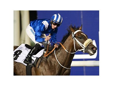 Soft Falling Rain and Paul Hanagan take the United Arab Emirates Two Thousands Guineas.
