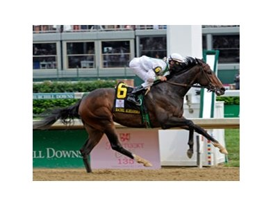 "Kentucky Oaks winner Rachel Alexandra<br><a target=""blank"" href=""http://www.bloodhorse.com/horse-racing/photo-store?ref=http%3A%2F%2Fpictopia.com%2Fperl%2Fgal%3Fprovider_id%3D368%26ptp_photo_id%3D8061529%26ref%3Dstory"">Order This Photo</a>"