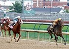 Gal About Town (left) finished second in the Oct. 28 Pocahontas.