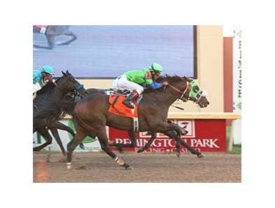 Redeemed comes home strong to win the Oklahoma Derby.