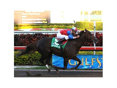 "Ikigai pulls away in the Mr. Prospector.<br><a target=""blank"" href=""http://www.bloodhorse.com/horse-racing/photo-store?ref=http%3A%2F%2Fpictopia.com%2Fperl%2Fgal%3Fprovider_id%3D368%26ptp_photo_id%3D7455549%26ref%3Dstory"">Order This Photo</a>"