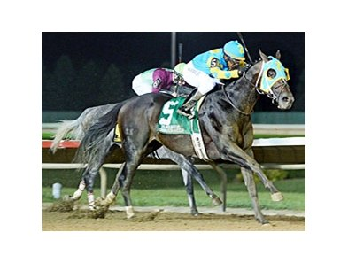 Prayer for Relief surges to victory in the Cornhusker Handicap.