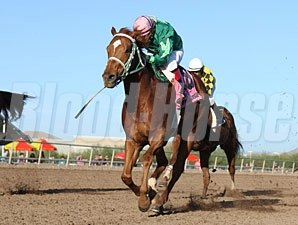 Absolutely Cool wins the 2012 Caballos Del Sol Stakes.