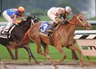 "Le Mi Geaux pulls away late to win the Schuylerville at Saratoga.<br><a target=""blank"" href=""http://www.bloodhorse.com/horse-racing/photo-store?ref=http%3A%2F%2Fpictopia.com%2Fperl%2Fgal%3Fprovider_id%3D368%26ptp_photo_id%3D9116368%26ref%3Dstory"">Order This Photo</a>"