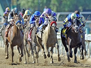 Breeders' Cup Juvenile - Capo Bastone far left, Shanghai Bobby far right.