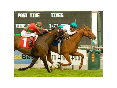 "Daytona holds off Hyperbaric to take the Arcadia.<br><a target=""blank"" href=""http://www.bloodhorse.com/horse-racing/photo-store?ref=http%3A%2F%2Fpictopia.com%2Fperl%2Fgal%3Fprovider_id%3D368%26ptp_photo_id%3D4085538%26ref%3Dstory"">Order This Photo</a>"
