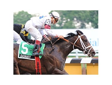Dagnabit takes the Tremont over Regardlesoftheoutcome by a half-length at Belmont Park June 29.