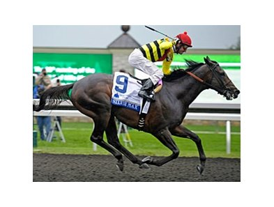 "Silver Max gets the jump on the rest to win the Shadwell Turf Mile Stakes.<br><a target=""blank"" href=""http://photos.bloodhorse.com/AtTheRaces-1/at-the-races-2013/27257665_QgCqdh#!i=2812481025&k=87QP2Bs"">Order This Photo</a>"