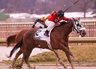 Funnys Approval won the Barbara Fritchie Handicap in February.