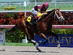 Travelin Man wins the 2011 Swale Stakes.