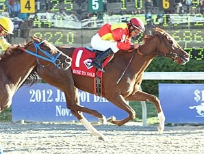 Rose to Gold wins the 2012 Delta Downs Princess.