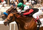 My Gi Gi holds off Lady of Shamrock to win the Honeymoon Handicap.