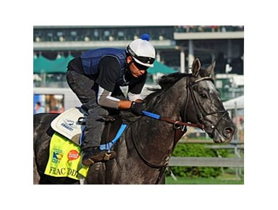 "Frac Daddy<br><a target=""blank"" href=""http://photos.bloodhorse.com/TripleCrown/2013-Triple-Crown/Kentucky-Derby-Workouts/29026796_jvcnn8#!i=2488856731&k=RrZkVtb"">Order This Photo</a>"