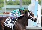 "Merry Meadow is the 121-pound highweight in the Hurricane Bertie Stakes.<br><a target=""blank"" href=""http://photos.bloodhorse.com/AtTheRaces-1/At-the-Races-2014/i-PvJ9DvZ"">Order This Photo</a>"