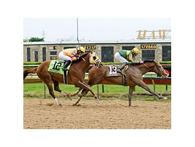 Done Talking won the 2012 Illinois Derby.