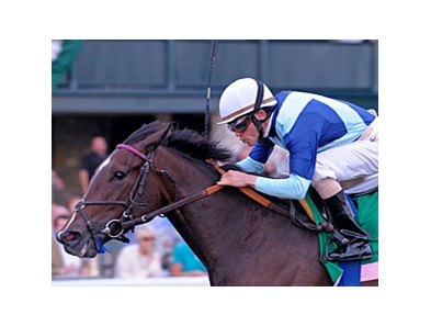 Aruna wins the Spinster Stakes