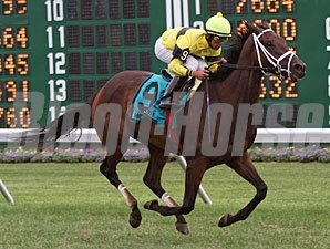 Hudson Steele wins the 2010 Jersey Derby Stakes.