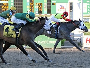 Hero Force wins the 2012 Louisiana Champions Day Juvenile Stakes.
