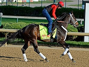 Ride On Curlin - Churchill Downs, April 23, 2014.