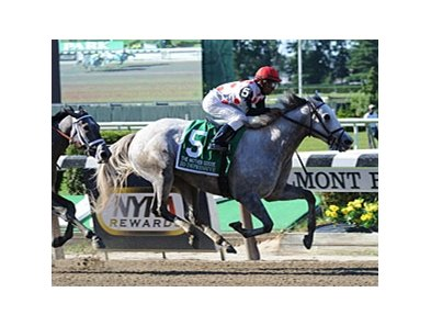 "Zo Impressive won the Mother Goose on June 23.<br><a target=""blank"" href=""http://photos.bloodhorse.com/AtTheRaces-1/at-the-races-2012/22274956_jFd5jM#!i=1929205243&k=ZKZV8fV"">Order This Photo</a>"