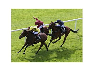 Rizeena wins the Moyglare Stud Stakes.