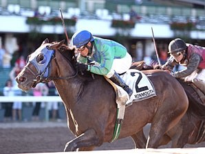 Smoke the Devil wins the 2012 Charles Hesse III Handicap.