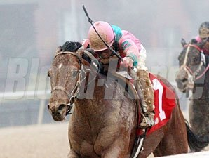Caleb's Posse wins the 2011 Smarty Jones.