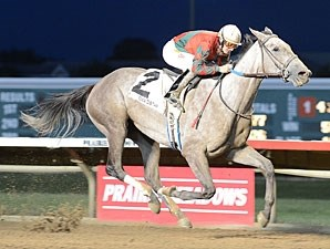 Flashy American wins the 2013 Iowa Distaff.