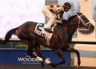 Embur's Song pulls free to win the Hendrie Stakes at Woodbine.