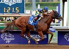 "Chitu flies to victory in the Damascus Stakes.<br><a target=""blank"" href=""http://photos.bloodhorse.com/AtTheRaces-1/At-the-Races-2014/i-JQ3f8zD"">Order This Photo</a>"