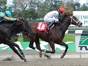 Brethren breaks his maiden at Belmont on Oct. 16, 2010.