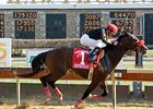 Recapturetheglory started at nearly 16-1 for the Illinois Derby (gr. II) but triumphed by four lengths.
