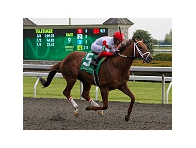 Lonesome Street flies late to win the Commonwealth at Keeneland.