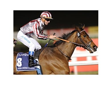 Cirrus des Aigles gets the win in the in the Dubai Sheema Classic at Meydan.